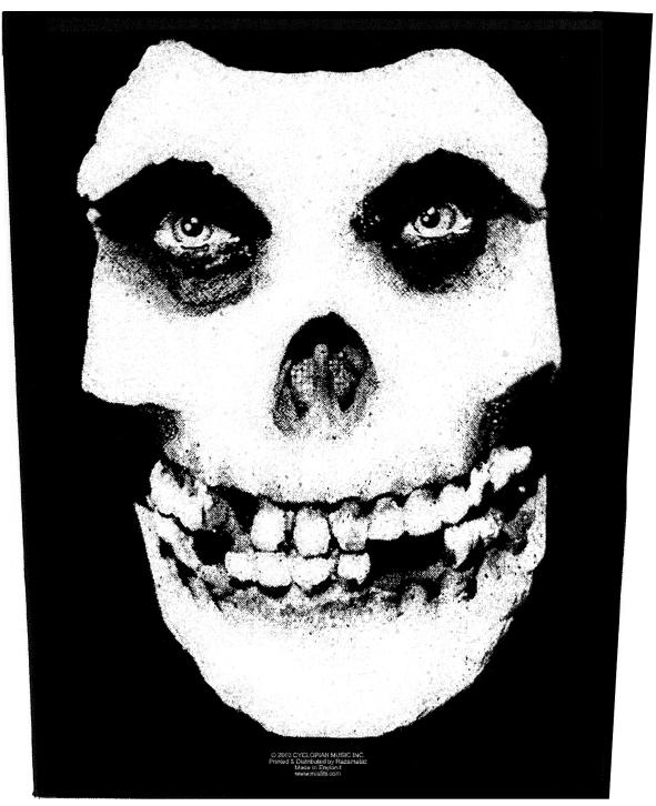 Mistfits Face Skull Backpatch