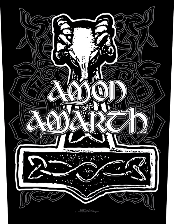 Amon Amarth Backpatch Hammer