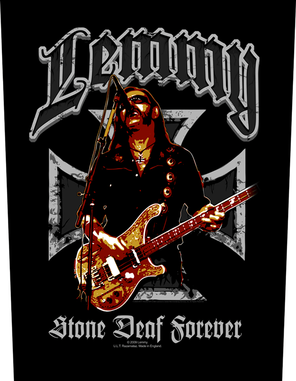 Lemmy Backpatch Stone Deaf Forever