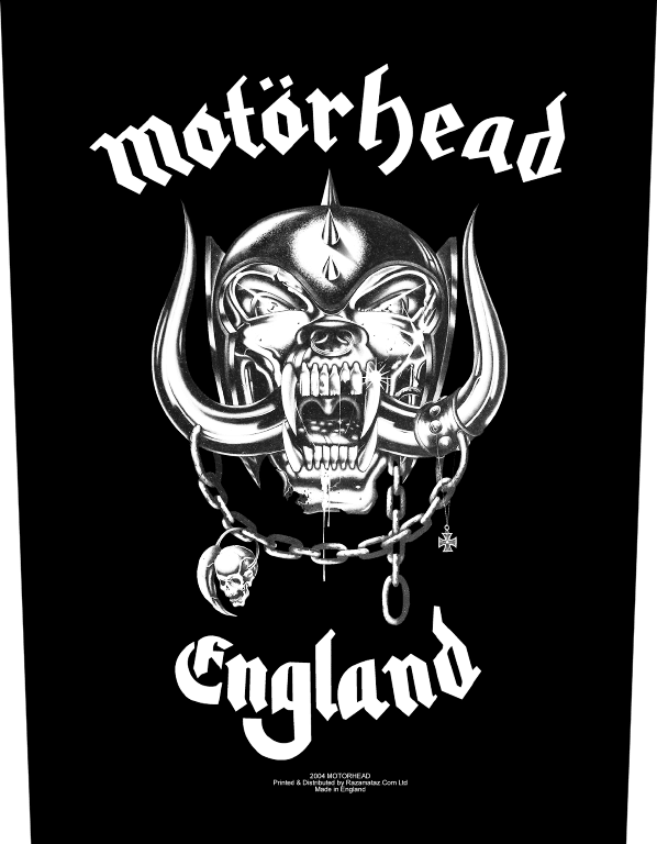 Motorhead Backpatch England