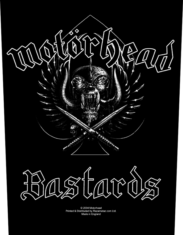 Motorhead Backpatch Bastards