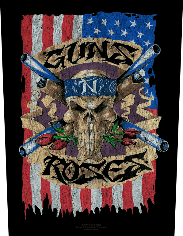 Guns N Roses Backpatch Flag