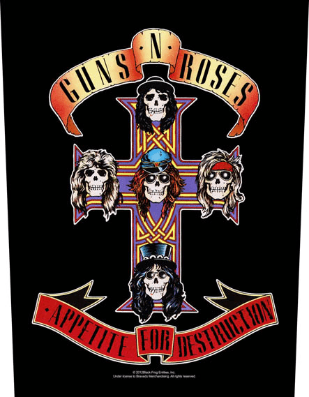 Guns N Roses Backpatch Appetite For Destruction