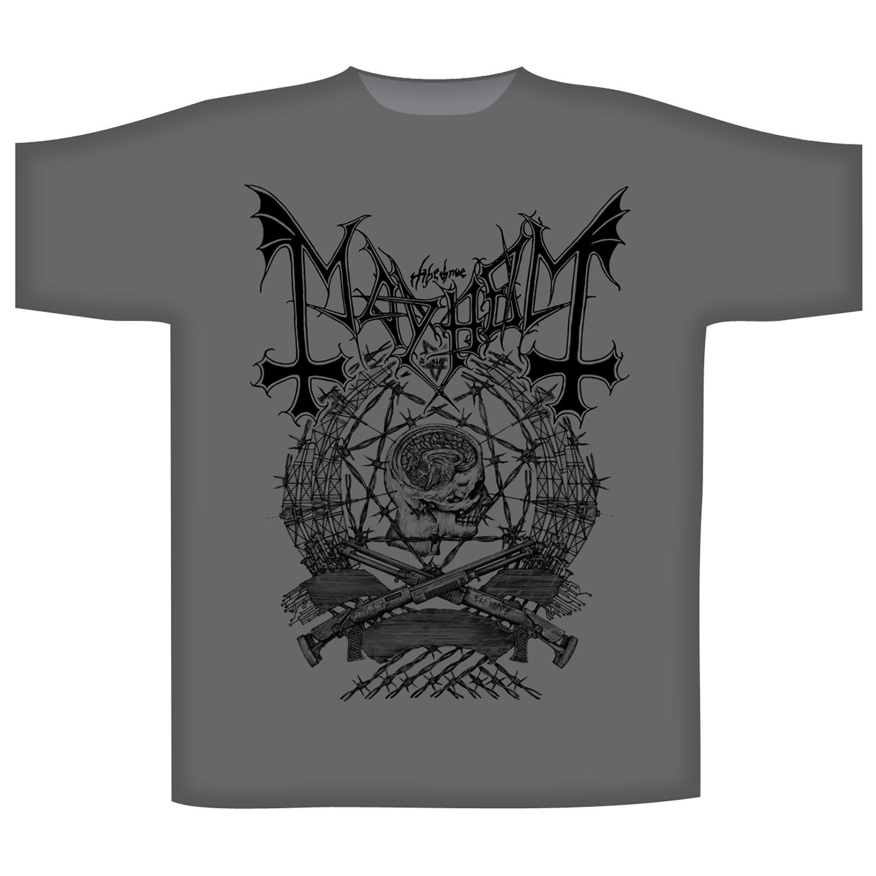 Mayhem \'Barbed Wire\' T-Shirt - Heavy Metal Online